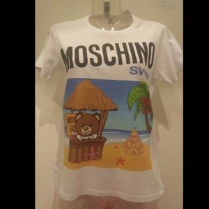 Moschino Swim Jeremy Scott Teddy Bear on Beach T